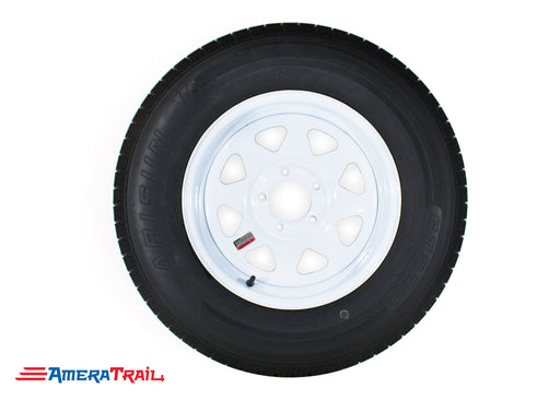 white 5 lug trailer wheel