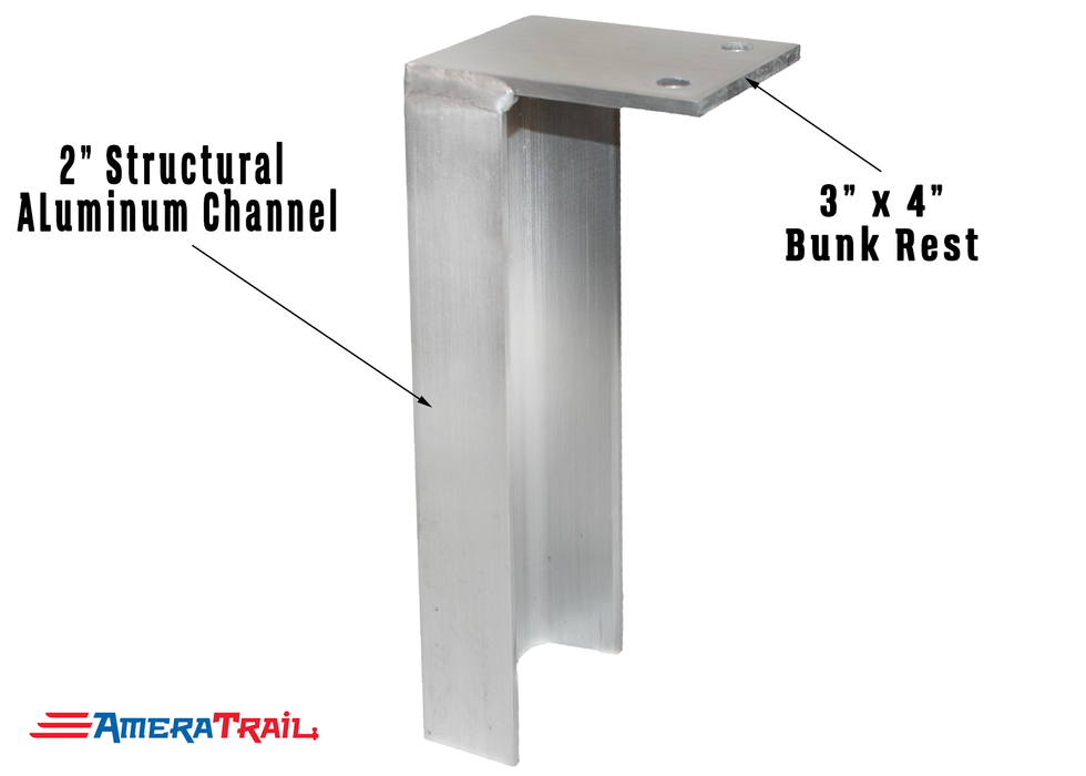 Aluminum Weld On Bunk Brackets, Available in Different Sizes - Includes 2 Stainless Steel Lag Bolts