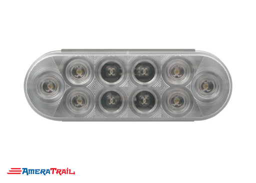 "Clear Flush Mount 6"" Oval LED, Utility/Clearance , Optronics"