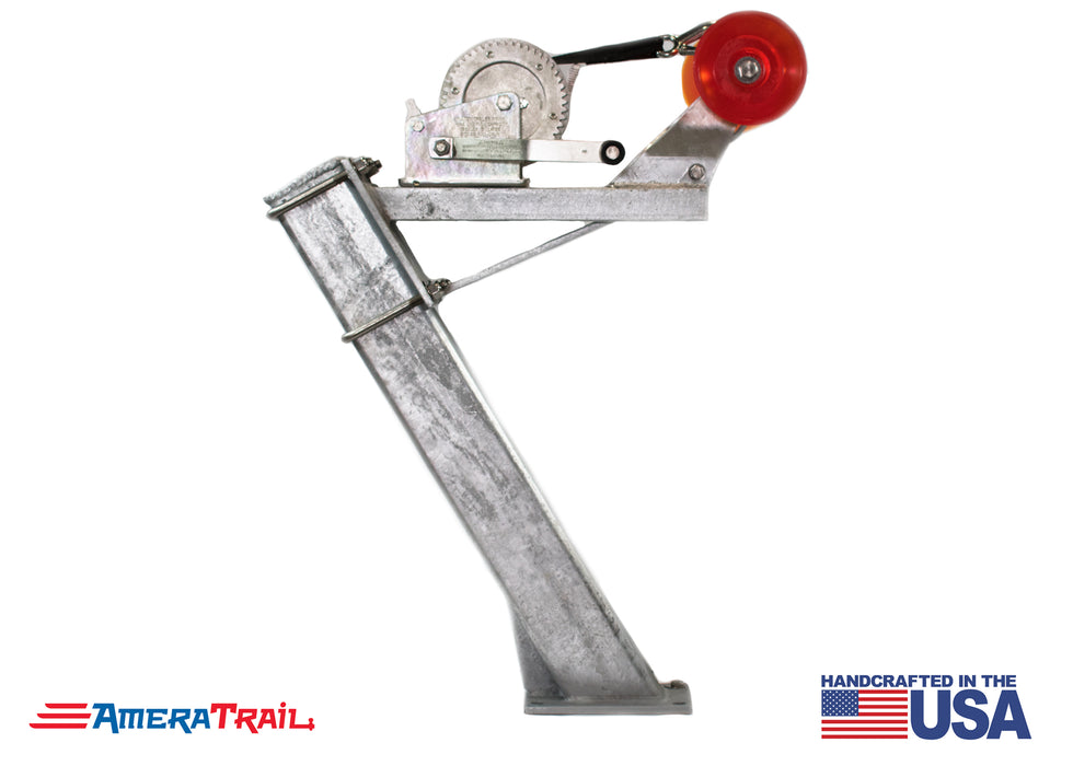 "Adjustable Bow Stop & Winch Combo on 30"" Post - Available w/ Fulton 1800lb Winch & Stoltz Roller"