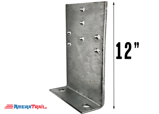 "12"" Vertical Bunk Bracket for Big Wood Bunks - 12"" H x 5"" Wide - Galvanized Finish"