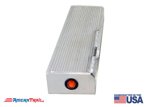 "13"" Channel Step, PORT SIDE FRONT w/ Fender Support & LED Marker Light - Includes SS Attaching Hardware"""