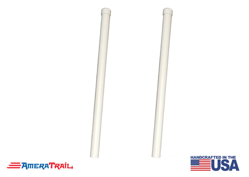 "PVC Poles for Boat Trailer Guide Post, 1 Pair, Fits 1.5 x 1.5"" Galvanized Guide Posts - Available in 40"", 48"", 60"""