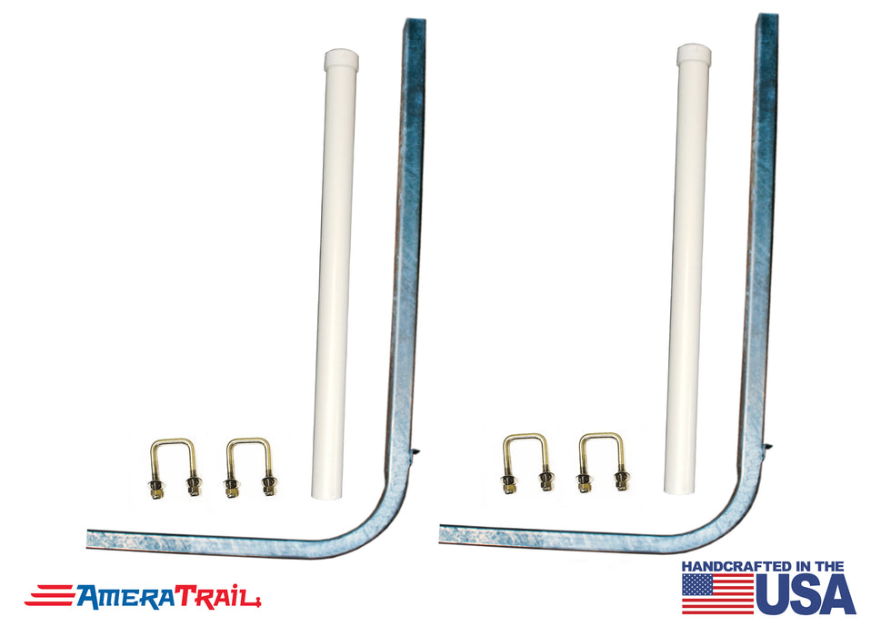 "Complete Guide Post Kit Includes 2 48"" Galvanized Guide Posts, 2 PVC Poles, and Attaching U Bolts"
