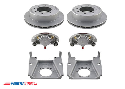 "8 Lug 7K Kodiak Brake Kit , STAINLESS CALIPERS w/ Dacromet Rotors and Brackets - Fits 1/2"" Wheel Studs"