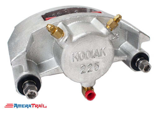 Kodiak 225 Dacromet Caliper, Fits 3500 - 6000 lbs Axles - Includes 1 Set of Pads & Guide Bolts