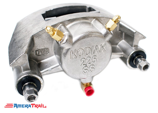 Kodiak 225 Stainless Steel Caliper, Fits 3500 - 6000 lbs Axles - Includes 1 Set of Pads & Guide Bolts