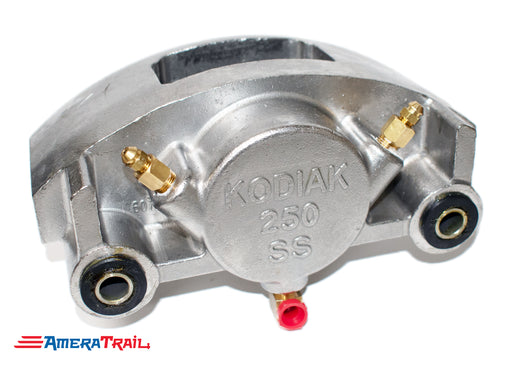 Kodiak 250 Stainless Steel Caliper, Fits 7000 - 8000 lbs Axles - Includes 1 Set of Pads & Guide Bolts