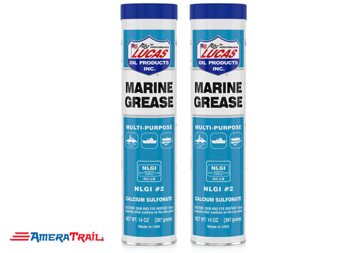 Lucas Marine Grease 14 oz , Multi Purpose Marine Inspired Grease, 2 Pack