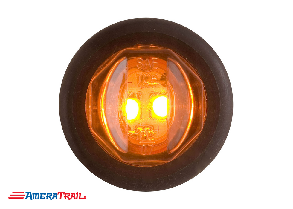 "Round Amber LED Flush Mount Side Marker 3/4"", Optronics"