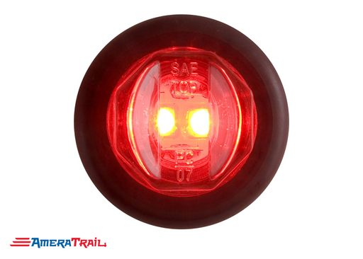 "Round Red LED Flush Mount 3/4""  Side Marker , Optronics"