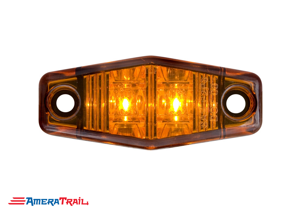 Mini Amber LED Side Marker Light , 2 Wire - Optronics