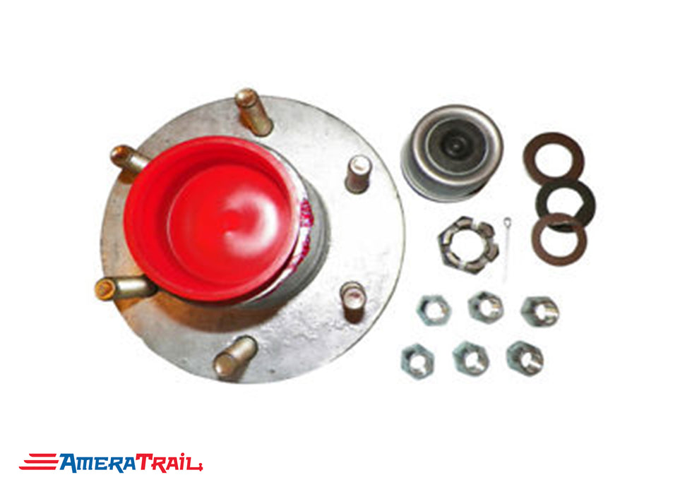 6 Lug Complete Hub Kit for 5200LB Axles, Fully Greased, 6 on 5.5 Lug Pattern - Rockwell American