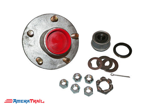 5 Lug Complete Hub Kit for 3500LB Axles, Fully Greased, 5 on 4.5 Lug Pattern - Rockwell American