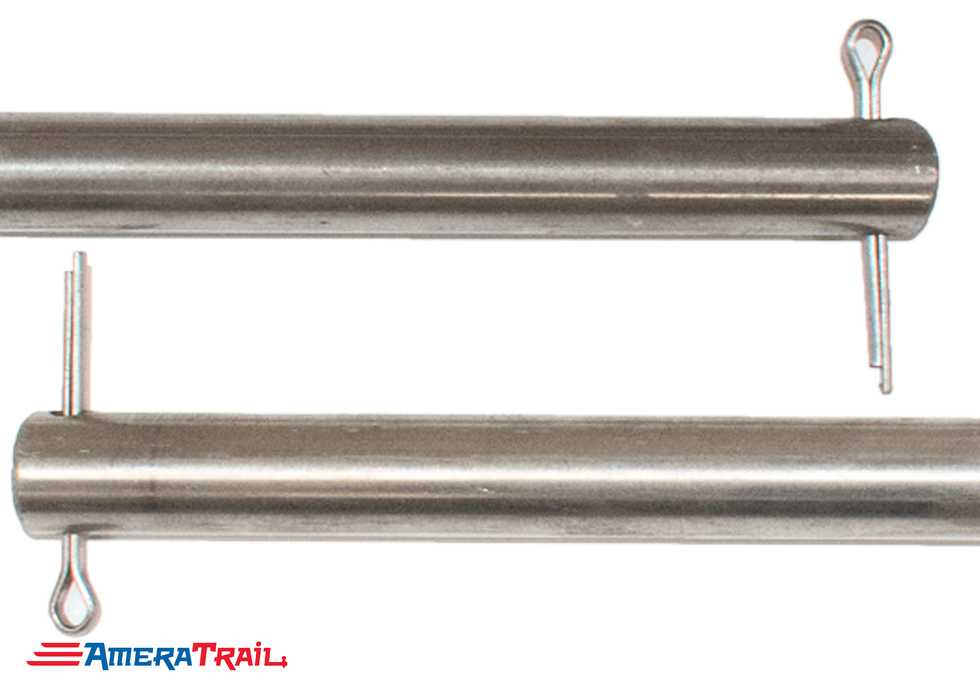 "13 1/2"" x 5/8"" Stainless Steel Roller Rod - Fits 12"" Keel Roller , Includes Stainless Steel Cotter Pins"