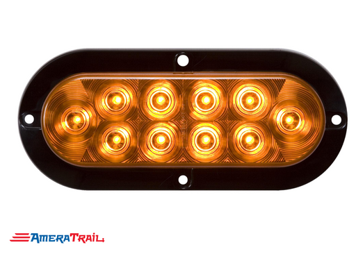 "Amber Surface Mount 6"" Oval LED , Side/Parking Marker , Optronics"