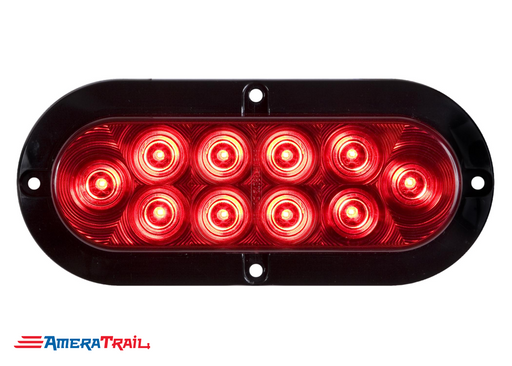 "6"" Oval LED Surface Mount Tail Light, Optronics"