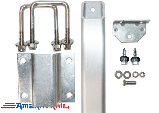 Single Support Adjustable Bunk Bracket System - Complete Kit, All Stainless Steel Hardware