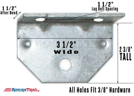 "Angled Swivel Bracket for Adjustable Bunks - 1/8"" Galvanized Steel"