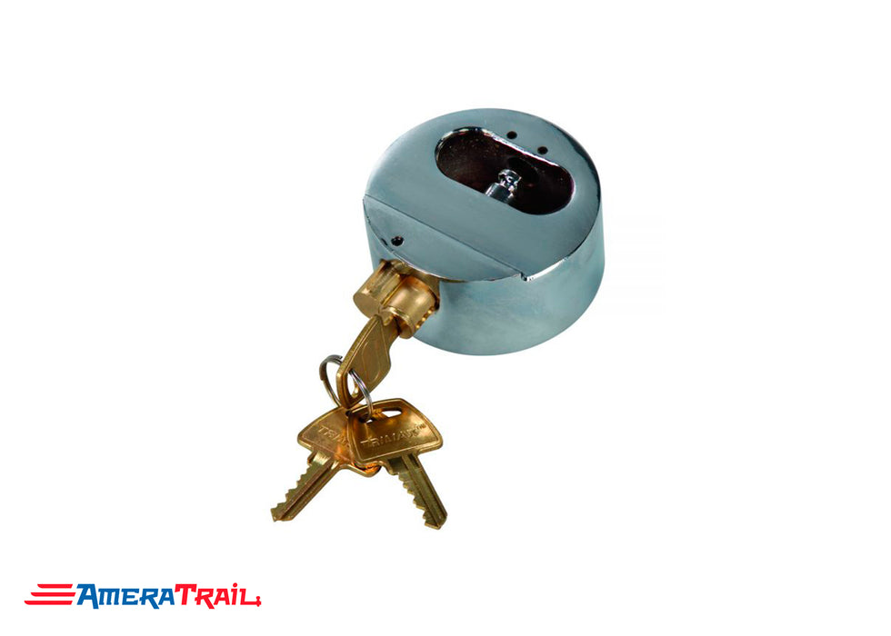 Puck Style Door Lock w/ Internal Shackle, Universal Fit - Trimax