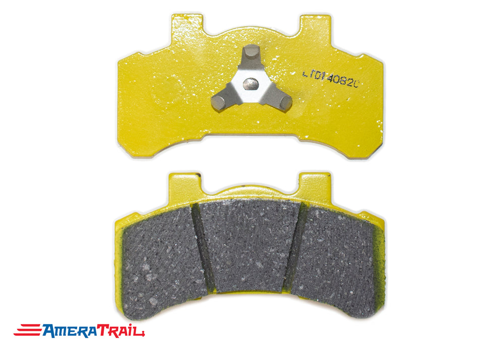 Tie Down Ceramic Brake Pads for 46304 Caliper w/ Non Corrosive Coating and Stainless Steel Clips - Completes One Axle