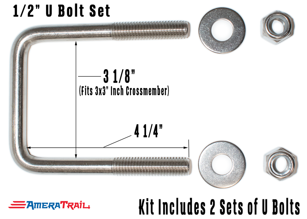 Dual Support Adjustable Bunk Bracket System - Complete Kit, All Stainless Steel Hardware