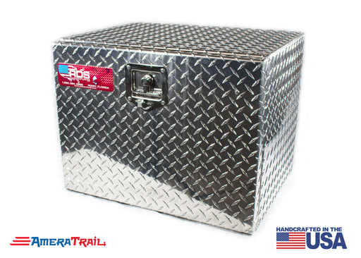 Underbody Tool Box w/ Drop Down Front Door & T Style Lock Handle, Diamond Plate - RDS