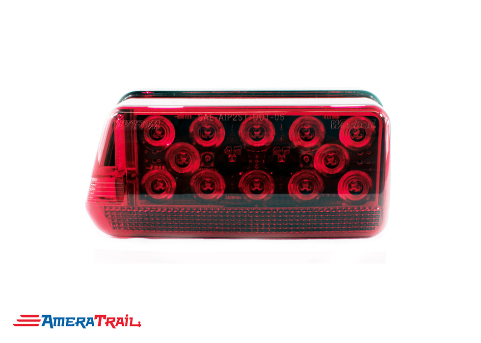 LED Wrap Around Tail Light, Driver Side w/ Tag Light - Wesbar