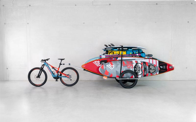 Bicycle trailer for heavy duty loading