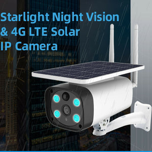 Solar Powered Wireless PIR Heat Detection Survelliance Camera 4G WiFi