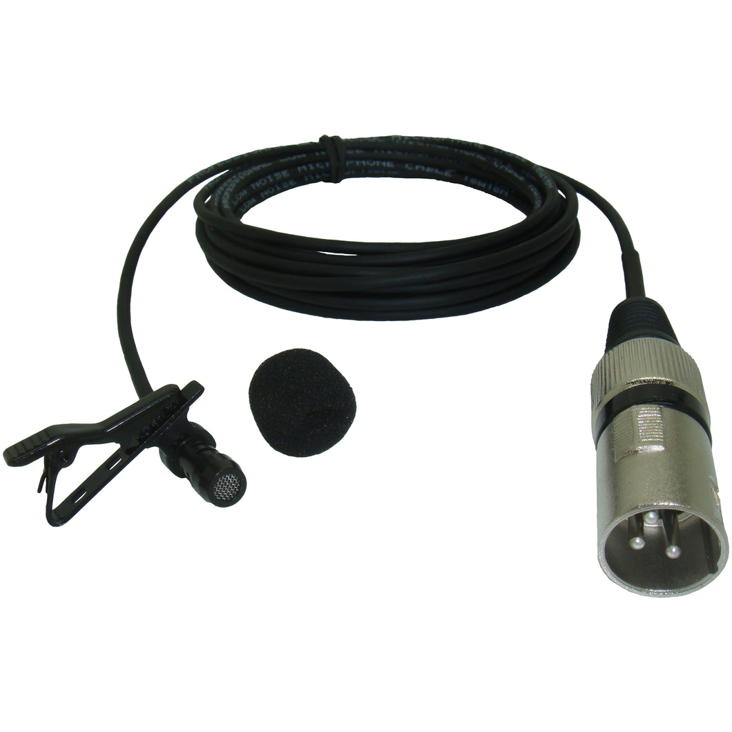Micronic XLR 'PTC' Phantom Powered 3 pin XLR Lavaliere Lapel Clip On Microphone 5-30 Metre Cable length