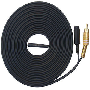 30 Metre Cable Length CCTV microphone & pre-amp module with RCA Female Phono Audio Output, 2.1mm DC socket