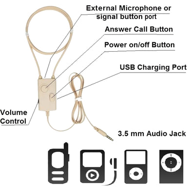 Mobile Phone Smartphone Covert Induction Spy Ear Piece Wireless Hidden Earphone