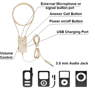 Mobile Phone Induction Covert Ear Piece Wireless Hidden Earphone For Smartphone