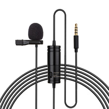 3.5mm TRRS/TRS Universal Lavaliere Microphone for Smartphone App & DSLR Video Camera