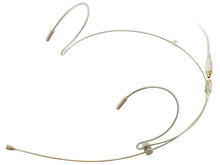 Beige Double Ear Hook Microphone for TOA Wireless Radio Body Pack Transmitter