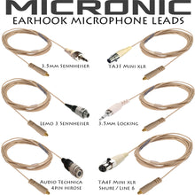 Beige Double Ear Hook Microphone for Mipro Wireless Radio Body Pack Transmitter