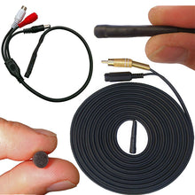 15 Metre Cable Length Outdoor Waterproof CCTV microphone RCA Female Phono Audio Output, 2.1mm DC socket