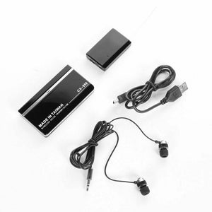 Wireless UHF Voice Activated Spy Bug Transmitter with Sound Recorder Receiver Covert Surveillance Audio Monitor