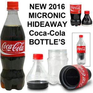 Secret Stash Plastic Coke Bottle Safe Diversion Hidden Inside Compartment to Hide Valuable Items