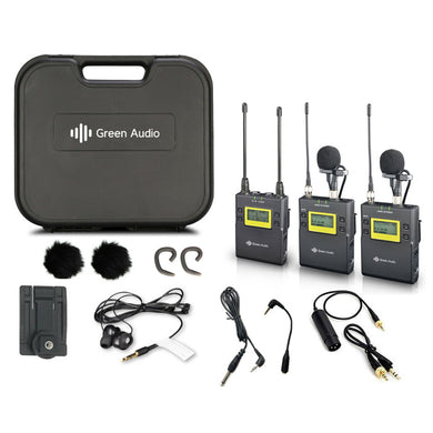 Dual Wireless Transmitter & Receiver Microphone System for PA / Mixer XLR