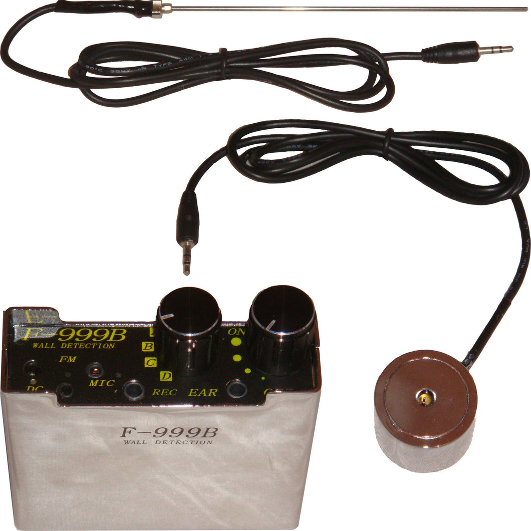 F999B SUPER SENSITIVE LISTEN THROUGH THE WALL CONTACT / PROBE MICROPHONE AMPLIFIER SYSTEM