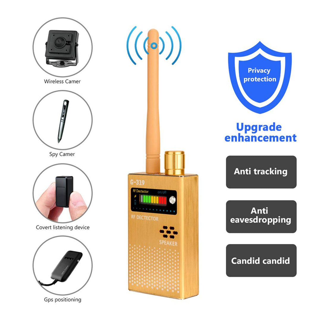 Gold G319 Advanced RF Spy Bug Detector GPS Tracker GSM CDMA 3G 4G 5G Wifi Camera