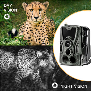 4G Trail Camera Supports 2G/3G/4G Network 120º Angle 20MP Photo 25 Metre Range Full HD 1080p Video