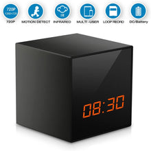 Full HD 1080p Wireless Wi-Fi Night Vision Spy Video Camera Recorder in Digital Cube Clock