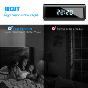 4K UHD Wireless Wi-Fi Infra Red Night Vision Clock Video Camera Motion Detect Recorder