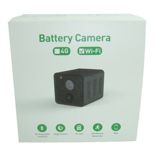 Indoor Mini Wireless WiFi CCTV Camera 4 Week Battery PIR Motion Detect Two-Way Audio