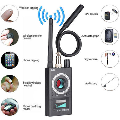 Portable RF Bug Detector Signal Locator GSM Audio Spy Bug & Magnetic Tracker Detector