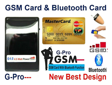 Covert Spy Ear Piece & GSM Credit Card Hidden Mobile Phone with Inductive Headset Microphone