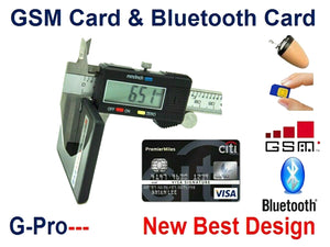 Wireless Inductive Ear Piece & Credit Card Phone All in One GSM Communication